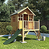 BillyOh Bunny Max Tower Children's Wooden Playhouse with Slide, 4ft x 4ft