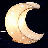 3D Ceramic Night Light - Moon