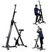 Homcom Vertical Climber + Bike Stepper Cardio Gym w/ LCD Monitor