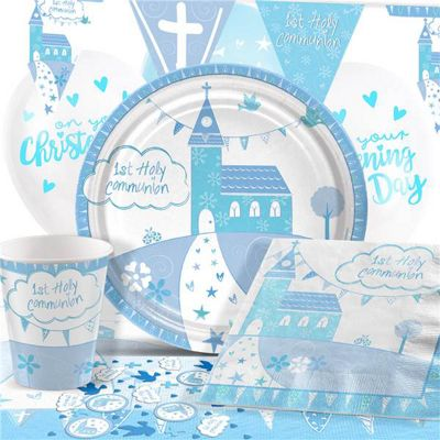 Communion Church Blue Party Pack - Deluxe Pack for 8