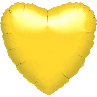 Yellow Heart Balloon - 18 inch Foil