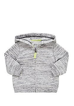 F&F Space Dye Zip-Through Hoodie - Grey