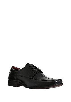 F&F Leather Tramline Stitch Shoes - Black