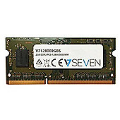 V7 V7128002GBS Notebook DDR3 SO-DIMM Memory Module 2GB (1600MHZ, CL11, PC3-12800, 204 polig, 1.5 Volt)
