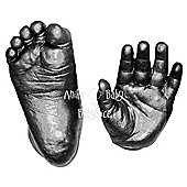 BabyRice - 3D Baby Casting Kit - Pewter Hand and Foot Casts