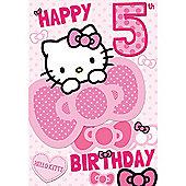 Hello Kitty Birthday Card - 5 Years
