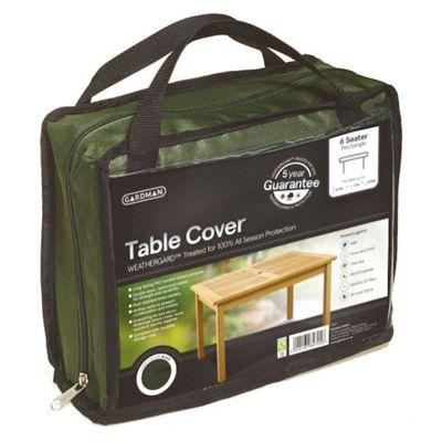 Gardman 6 Seater Rectangular Table Cover- Green