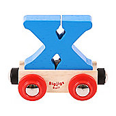 Bigjigs Rail Rail Name Letter X (Blue)