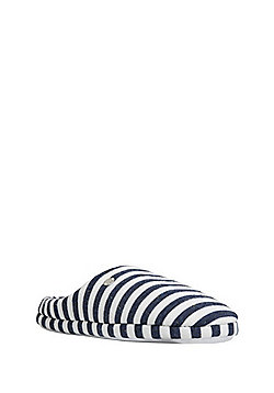 F&F Striped Mule Slippers - Navy