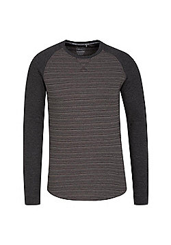 Mountain Warehouse Mens Lightweight Tshirt Isocool Fabric with Highly Breathable - Grey