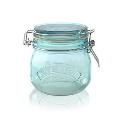 Kilner Round Clip Top 0.5L Blue Jar