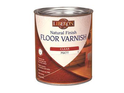 Liberon Natural Finish Floor Varnish Clear Satin 2.5 Litre