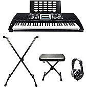Axus AXP25 Keyboard w/ Bench, Stand & Headphones - with 6 Months Free Online Lessons