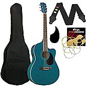 Tiger Blue Electro Acoustic Guitar Pack