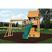 Selwood Milford Climbing Frame With Slide, Swings and Rock Wall
