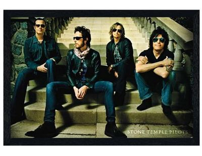 Stone Temple Pilots Black Wooden Framed San Diego Rockers STP Poster