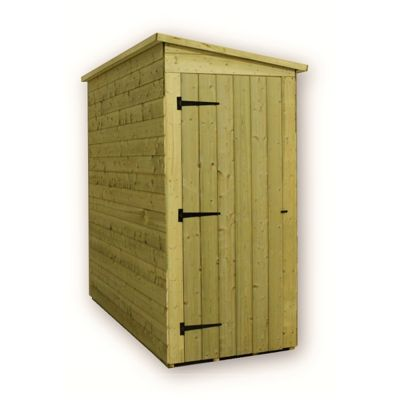 3 x 4 Maldon Windowless Pressure Treated T&G Pent Shed (door Panel Sloping Left To Right) (3ft x 4ft)