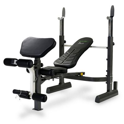 Tunturi Pure Mid-Width Weight Bench and Rack with Folding Design