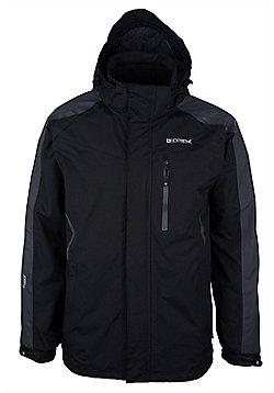 Cleggan Mens Waterproof Hooded Breathable Walking Hiking Rain Jacket Coat - Black