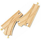 Curved Switch Track 2Pcs For Wooden Railway Train Set 50907 - Brio Compatible