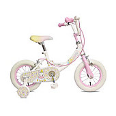 "Concept Unicorn 12"" Wheel Kids Bike White/Pink"