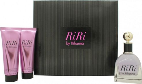 Rihanna RiRi Gift Set 100ml EDP + 90ml Body Lotion + 90ml Shower Gel For Women