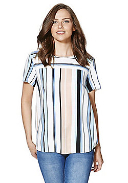 F&F Striped Split Back Shell Top - Multi