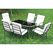 Outsunny 7pc Table Set Furniture Bistro Dining