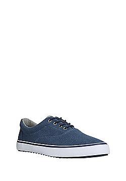 F&F Lace-Up Canvas Shoes - Blue