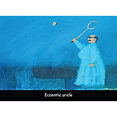 Holy Mackerel Eccentric Uncle Greetings Card
