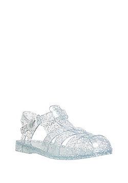 F&F Glitter Jelly Sandals - Silver