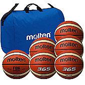 Molten 6 Ball Basketball Club Pack, Size 6