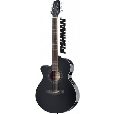Stagg Electro Acoustic - Black - with 6 Months Free Online Lessons