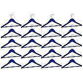Harbour Housewares Pack of 20 Blue Childrens Wooden Clothes / Coat Hangers