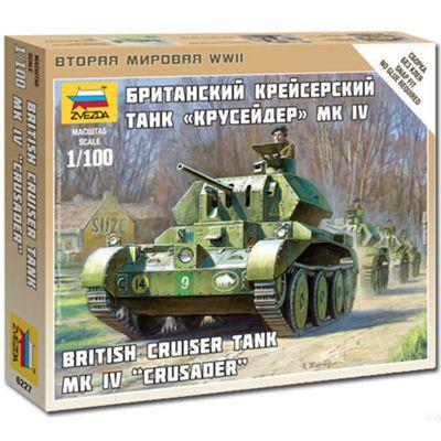 Zvezda 6227 British Tank Crusader Iv 1:100 Snap Fit Model Kit