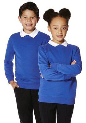 F&F School Unisex Sweatshirt with As New Technology 5-6 yrs Blue