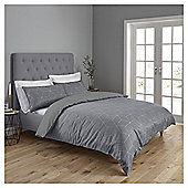 Fox & Ivy  Geo Jacquard  Duvet Set - Grey