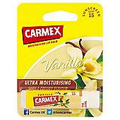 Carmex Ultra Moisturising Lip Balm Vanilla Stick SPF 15 4.25g