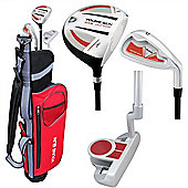 Young Gun Sgs Junior Eagle Right Hand Golf Set + Bags Age 9-11 - Red