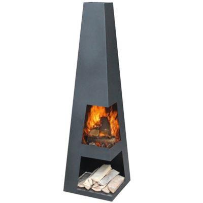 Gardenmaxx Sanga XL 150cm Fireplace - Black
