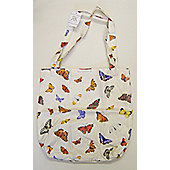 Roy Kirkham PVC Coated Cotton Shopping Bag, Butterfly Garden