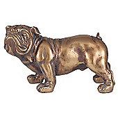 Gold Polyresin British Bulldog Decoration