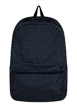 Polka Dot Graphic Navy Backpack