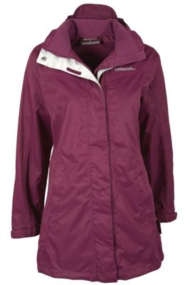 Guelder Womens Breathable Waterproof Casual Hooded Lightweight Long Coat Jacket