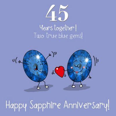 45th Wedding Anniversary Greetings Card - Sapphire Anniversary
