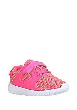 F&F Knitted Riptape Trainers - Coral