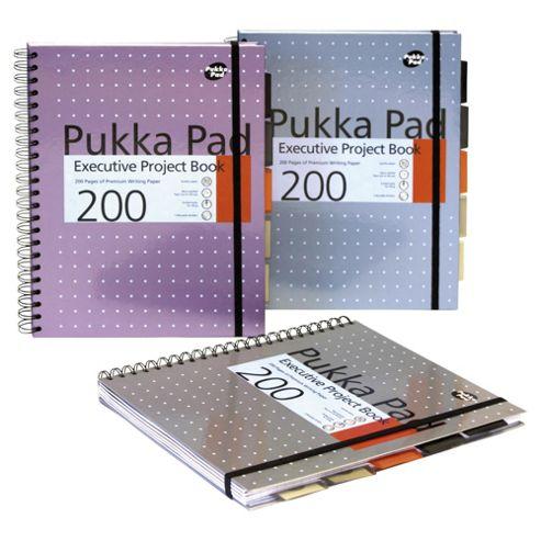 Pukka Pad A4 Executive Metallic Project Book 3 Pack