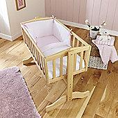 Clair de Lune 2pc Crib Bed Bedding Set (Stars & Stripes Pink)