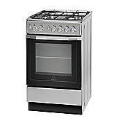 Indesit Gas Cooker with Gas Grill and Gas Hob, I5GG1(S)/UK - Silver