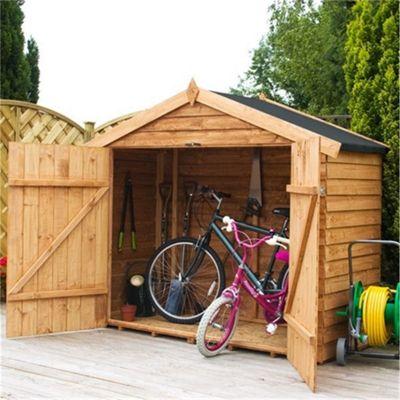 Bike Store 7 x 3 Sutton Overlap Garden Wooden Bike Store (7ft x 3ft)